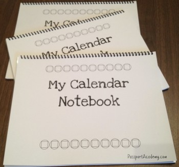 My Calendar Notebook~ PassportAcademy.com