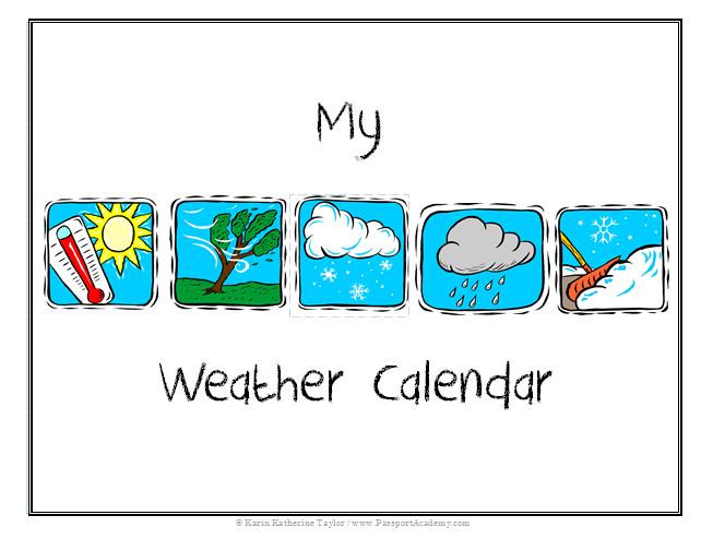 Kids Weather Calendar : My weather calendar