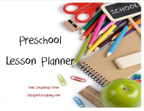 Organizing for Preschool: My Preschool Lesson Planner