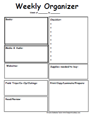 homeschooling templates