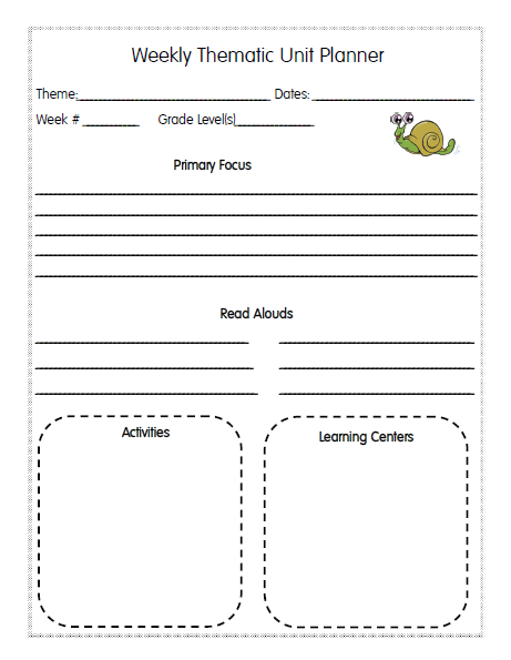 Lesson Planner Pages - Preschool weekly lesson plan template