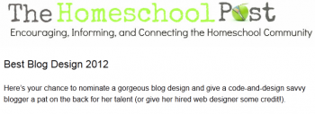 Best Homeschool Blog Design